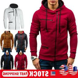 Men's Warm Hoodie Hooded Sweatshirt Coat Jacket Outwear Jump