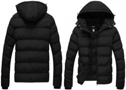 Wantdo Men's Winter Thicken Cotton Coat Puffer Jacket with U