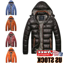 men s winter warm hooded thick padded