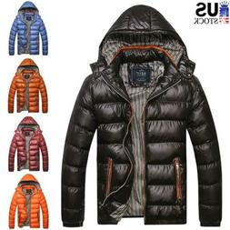 Men's Winter Warm Thick Parka Jacket Snow Hooded Puffer Coat