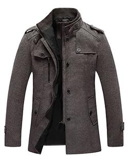 Wantdo Men's Winter Wool Outwear Coats US Small Coffee US Sm