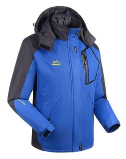men waterproof ski snow jacket with hood