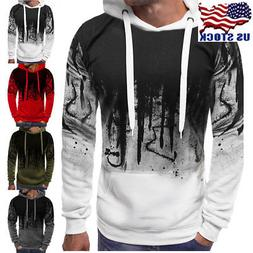 Men Winter Casual Hoodie Warm Hooded Sweatshirt Coat Jacket