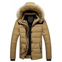 Men Winter Jacket Coat Snow Parka Down Outerwear Thick Therm