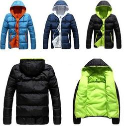 Mens Winter Warm Ski Jacket Snow Thick Casual Loose Hooded P