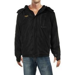 Wantdo Mens Black Winter Parka Wind Resistant Anorak Jacket