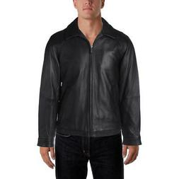 Nautica Mens Leather Winter Coat Bomber Jacket Outerwear BHF