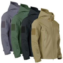 Mens Military Outdoor Winter Warm Fleece Tactical Jacket Out
