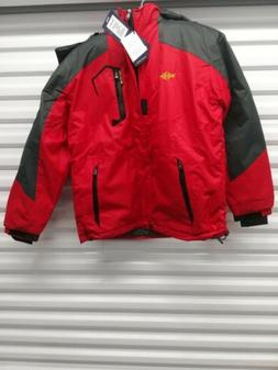 mens winter coat red grey men s