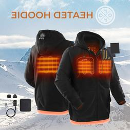 ORORO Mens Womens Heated Hoodies Winter Coat Battery Powered