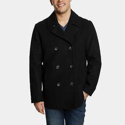 mens wool blend double breasted peacoat