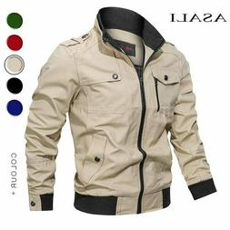 military jacket men spring autumn cotton windbreaker