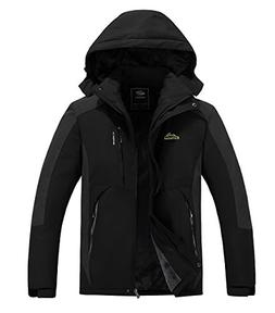 Men's Mountain Fleece Ski Jacket Winter Softshell Windproof