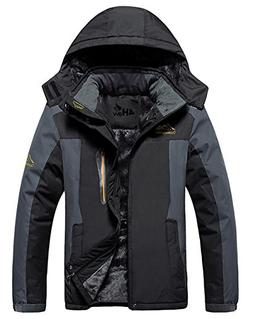 mountain jacket waterproof hooded fleece