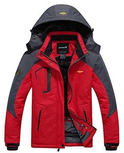 Wantdo Men's Mountain Waterproof Ski Jacket Windproof Rain J