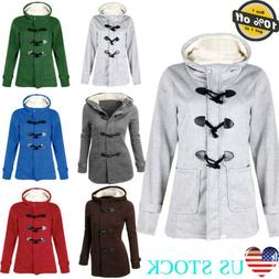 Multicolor Women Thickened Coats Winter Warm Button Hoodies