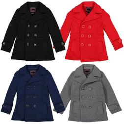 NEW Girls Double Breasted Pea Coat  Holiday Winter  Kids Sz