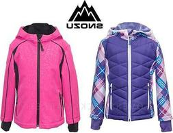 NEW GIRLS SNOZU SUPER SOFT LINED SOFT SHELL JACKET SOFTSHELL