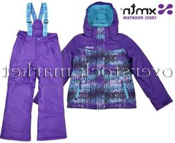 NEW XMTN GIRLS WINTER COAT & BIB PANT SET SKI/BOARDER SNOW S