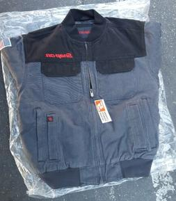 NEW Snap On ToolS Mens Insulated Black W/Grey Winter Coat Zi