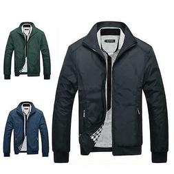 Men's Autumn Winter Slim Collar Jacket Tops Casual Coat Vogu