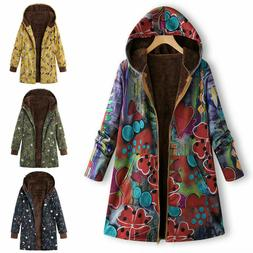 new women winter warm outwear floral print