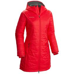"New Womens Columbia ""Mighty Lite"" Omni-Heat Hooded Winter Ja"