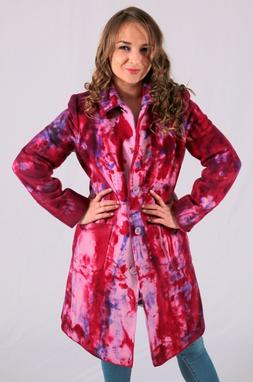 NEW wool CASHMERE pea COAT NAVY blue red pink purple white b