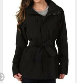 North Face Womens Black K Jacket Trench Coat Fall Winter Spr