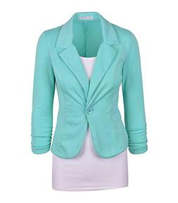 RubySports Women's Fashion One Button Slim Blazer Coat Suit