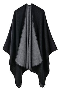 Pink Queen Women Oversized Cashmere Knitted Poncho Cape Card
