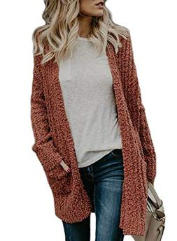 Oversized Open Front Cardgians for Women Long Sleeve Chunky
