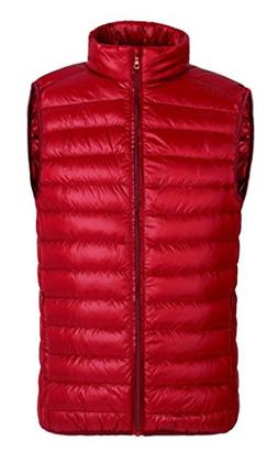 HengJia Men's Packable Down Vest Puffer Vest Lightweight Dow