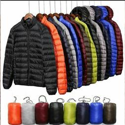 Packable Men's Ultralight Hooded Duck Winter Coat Down Jacke