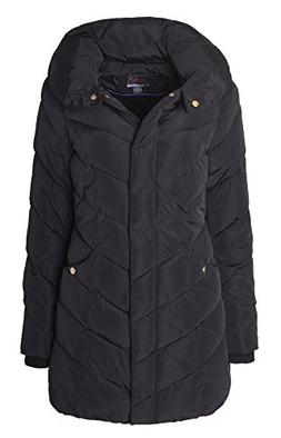 Sportoli Womens Packable Winter Chevron Quilted Fleece Lined