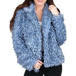 Tahari Pepper Curly Women's Faux Fur Cozy Winter Teddy Coat