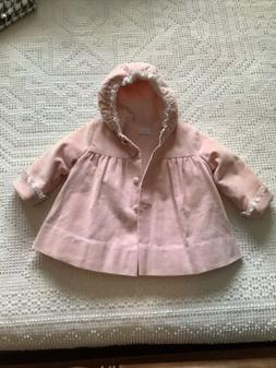 Betti Terrell by Johnston Pink Corduroy Fluffy Coat VINTAGE