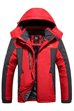 HENGJIA Mens Plus Size Outdoor Coat Waterproof Winter Jacket