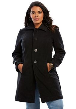 Roamans Women's Plus Size Plush Fleece Jacket - Black, 2X