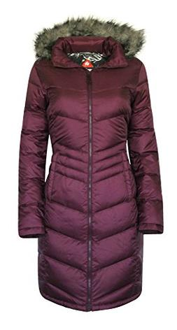 Columbia Women's Polar Freeze Long Down Jacket Omni Heat War