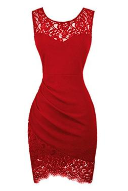 Swiland Red Dress for Women Halloween Christmas Club Party S
