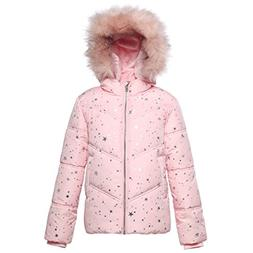 Rokka&Rolla Girls' Heavy Padded Water-Resistant Hooded Thick