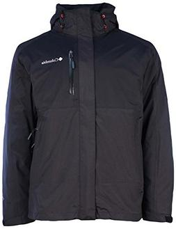 Columbia Mens Rural Mountain II Interchange Jacket-Black/Bla