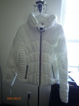 SALE GUESS WHITE PUFFER WINTER JACKET COAT WOMENS SIZE S NEW