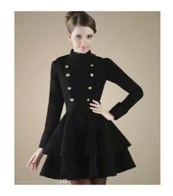 Sexy Wome's Winter Dress Coat - Large - Wool-Blend - NWT