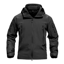 TACVASEN Men's Classic Fleece Liner Hooded Outwear Softshell