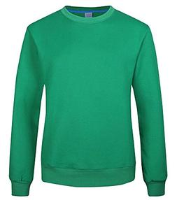 Vocni Mens Womens Sweatershirts Fleece Lined Crewneck Winter