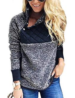 Romanstii Ladies Sweatshirts Fall Fleece Jackets Sherpa Pull