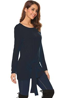 Halife Womens Swing Tunic Tops Loose Fit Wrap Flattering T S