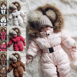 Toddler Baby Boys Girls Warm Winter Jacket Hoodies Outwear S